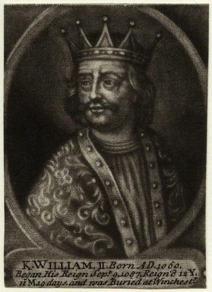 Король ВильгельмII, гравюра Джона Карвитана