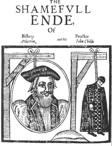 Священник Джон Атертон иего любовник Джон Чайд, казненные в1641 году