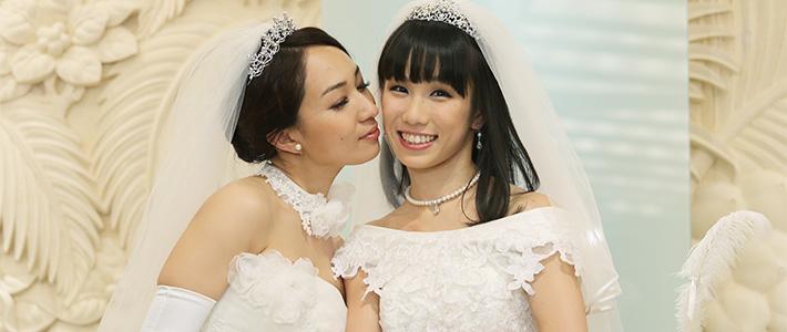 Актрисы Итиносэ Аяка и Сугимори Аканэ