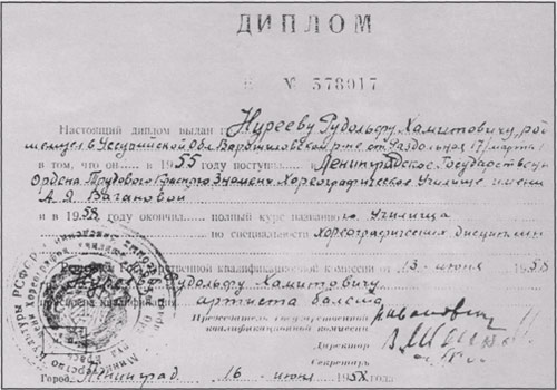 Диплом Р. Нуреева